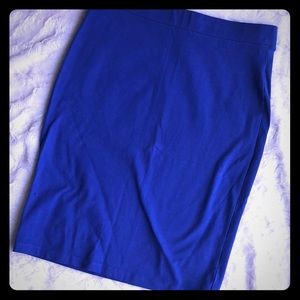 NWOT Forever 21 Blue mini pencil skirt